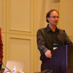 Kenneth Holmquist und Daniel Weiskopf beim ETVIS Workshop.