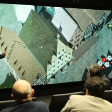 Prof. Fritsch nahm die Besucher mit auf einen virtuellen Spaziergang durch Calw
