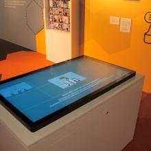Touch-Tisch über Visual Computing auf der MS Wissenschaft