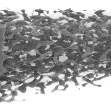 Depicted is the system, the researchers used for their case study. A ripping fluid layer simulated with the large-scale molecular dynamic solver ls1 and visualized in situ with the visualization framework MegaMol. VISUS