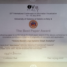 Best Paper Award at IV 2018 for VISUS scientists
