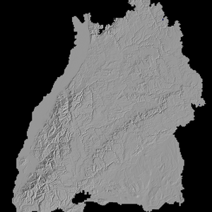 Einfache Visualisierung der Landschaftsdaten Baden Württembergs, mit kommerzieller Software erstellt.