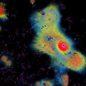 Approximation der Ausbreitung von Röntgenstrahlung.