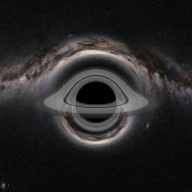 Akkretionsscheibe um ein Schwarzes Loch